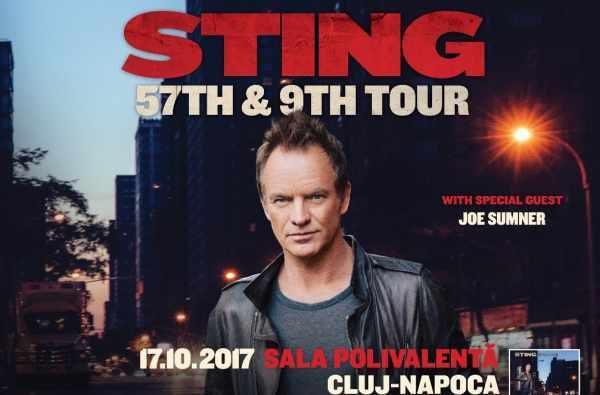 Concert Sting pe 17 octombrie la Sala Polivalenta din Cluj-Napoca