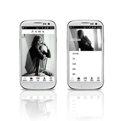 Zara – aplicație pentru smartphone și tablete Samsung